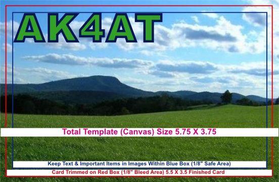 QSL Card Template Layout And Specifications - Qsl card template